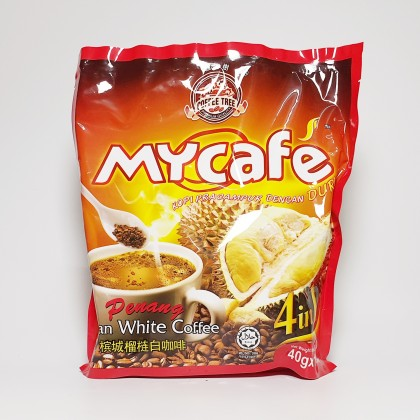 槟城榴莲白咖啡 PENANG DURIAN WHITE COFFEE 40G X 15SACHETS